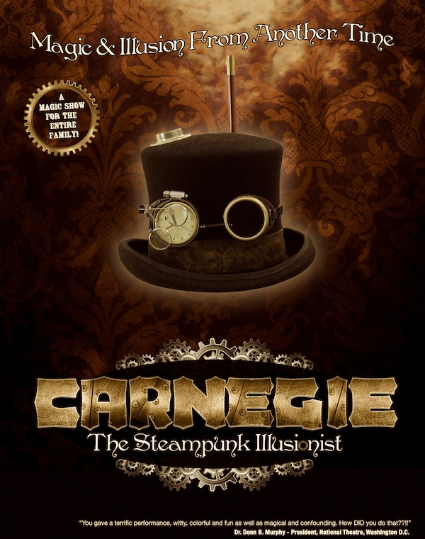 Steampunk Illusionist Magic Show